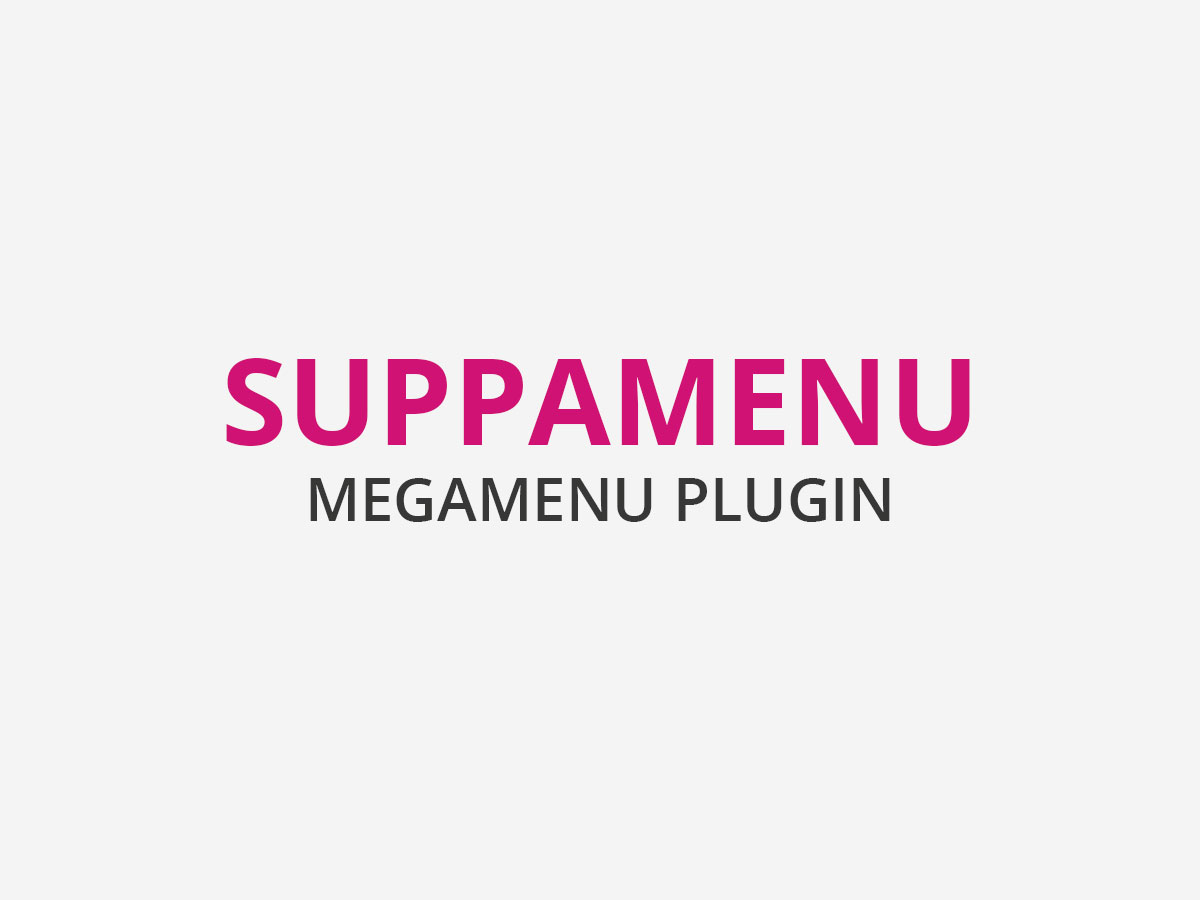 Suppamenu Mega Menu plugin