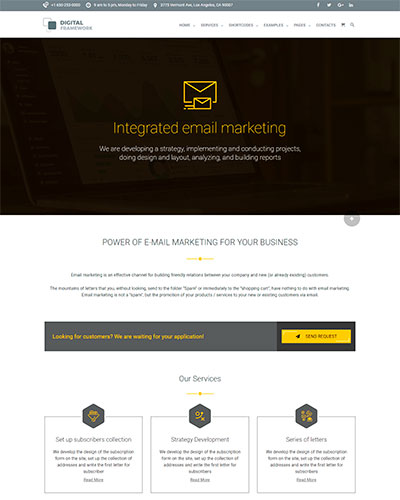 Demo 6: Email Marketing Agency WordPress Theme