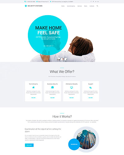 Demo 7: Security Agency WordPress Theme