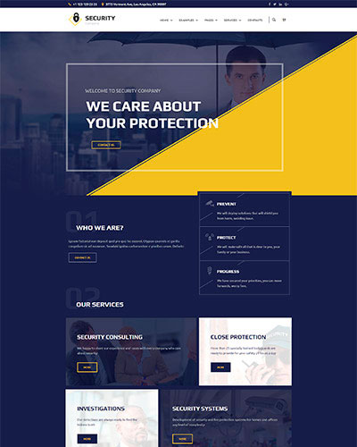Security Agency WordPress Template