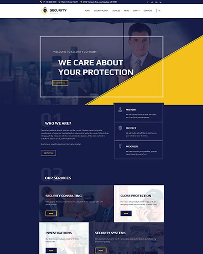 Demo 9: Security Agency WordPress Theme