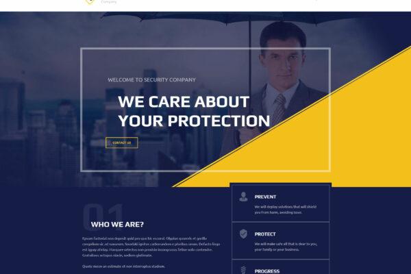 Security CCTV WordPress Theme