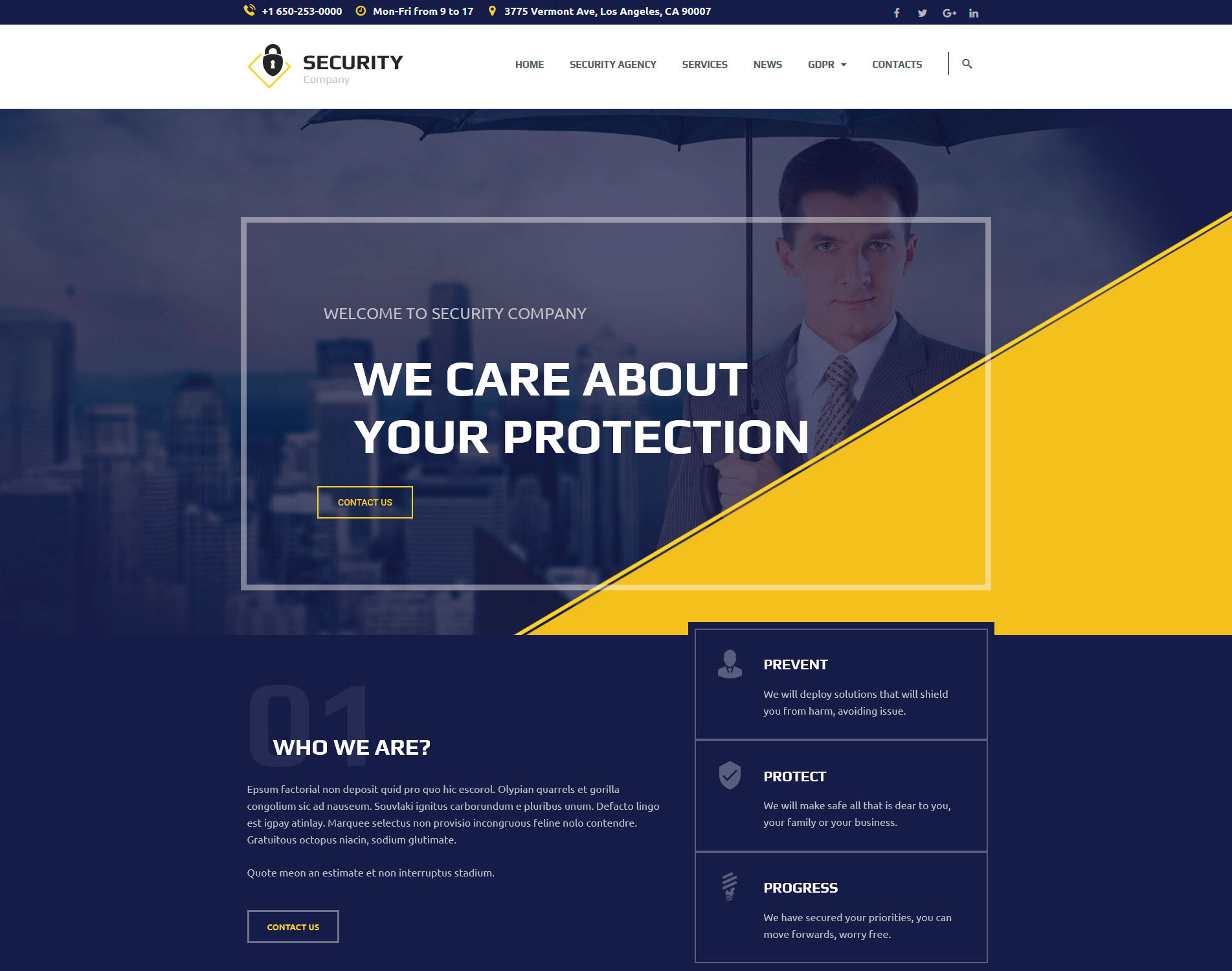 Security CCTV WordPress Theme