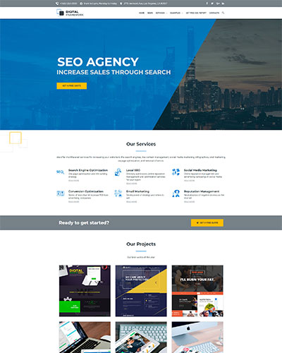 Demo 4: SEO Agency WordPress Theme