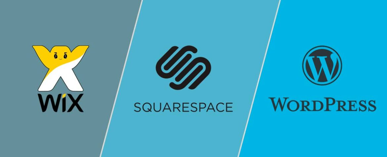 Comparison of Wix Vs SquareSpace Vs WordPress