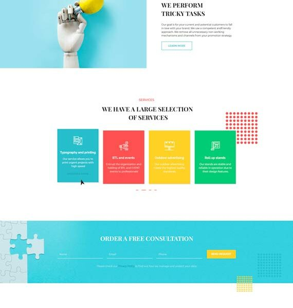 WordPress theme for advertising company