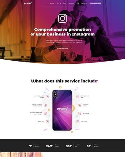 Instagram Agency WordPress Theme