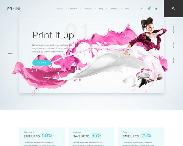 Prink theme header layout