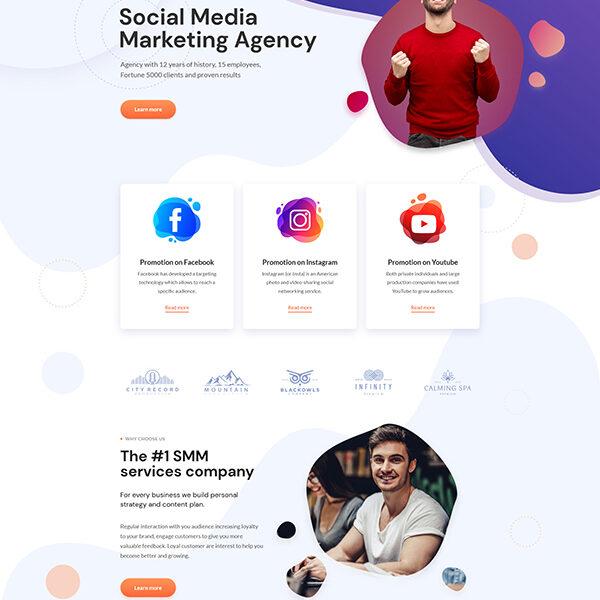 Follow theme full page layout
