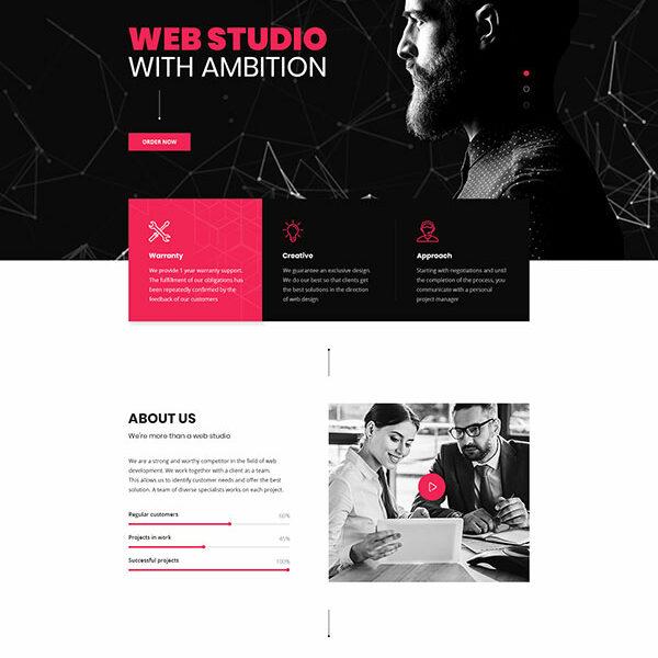 Stucy theme full page layout