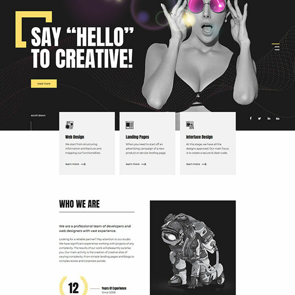 Creative Web Design Company WordPress theme
